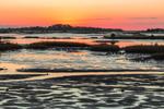 Sunrise over Islands of Cedar Keys at Low Tide, Gulf of Mexico, Cedar Key, FL