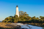 St. Marks Lighthouse in St. Marks National Wildlife Refuge, Gulf Coast, Florida Panhandle, Wakulla County, St. Marks, FL