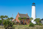 Cape St. George Lighthouse and Keeper's House, Gulf Coast, Florida Panhandle, Franklin County, St. George Island, FL