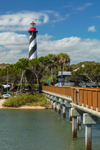 Early Morning Light at St. Augustine Lighthouse and Pier, Anastasia Island, St. Augustine, FL