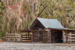 Old Corn Crib Barn at Chesser Island Homestead, Okefenokee National Wildlife Refuge, near Folkston, GA