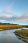 Sunset over Tidal Creek and Salt Marsh at Clam Creek, Jekyll Island, GA
