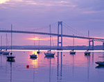 Sunrise, Jamestown Harbor and Newport Bridge