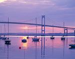 Sunrise, Jamestown Harbor and Newport Bridge