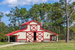 Red and Beige Barn, Carteret County, Straits, NC