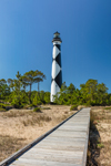 Cape Lookout Light Station with Boardwalk, Cape Lookout National Seashore, Core Banks, Carteret County, NC