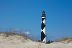 Cape Lookout Light Station, View from Sand Dunes, Cape Lookout National Seashore, Core Banks, Carteret County, NC