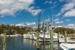 Shrimp Boats in Harkers Island Harbor, Harkers Island, NC