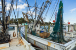 Commercial Fishing Boats at Dock, Carteret County, Atlantic, NC