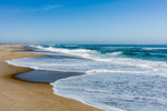 Atlantic Ocean Surf and Beach at Cape Hatteras National Seashore, Outer Banks, Hatteras Island, NC