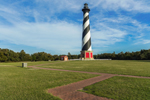 Early Evening Light on Cape Hatteras Lighthouse, Cape Hatteras National Seashore, Outer Banks, Hatteras Island, NC