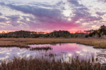 Sunset over Cedar Creek and Salt Marshes, Sea Level, NC