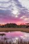 Sunset over Cedar Creek and Salt Marshes, Sea Level, NC