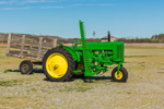 Antique John Deere Tractor Model MT with Hay Mower and Wagon, Morris Farm, Barco, NC