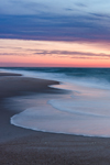 Predawn over Surf and Sandy Beach along Atlantic Ocean at Assateague Island National Seashore, Assateague Island, MD