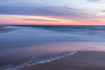 Predawn over Surf and Sandy Beach along Atlantic Ocean at Assateague Island National Seashore, Assateague Island, MD