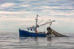 Fishing Trawler Hauling in Nets, Block Island Sound, Charlestown, RI