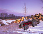 Early Winter Morning at High Acres, 1952 Ford Tractor