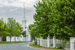White Fence and First Congregational Church on Royaslton Common, Royalston, MA