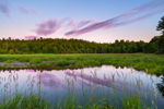 Sunset over Wetlands and Meadow, Templeton, MA