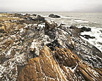 Rugged Coastline with Dusting of Snow