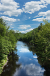 Sunny Day along Millers River, Bearsden Conservation Area, Athol, MA