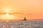 Latimer Reef Light at Sunrise, Fishers Island Sound, Long Island, Southold, NY