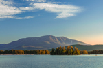 Early Morning Light Shines on Mt. Katahdin and Millinocket Lake, Penobscot County, T1R8 WELS, ME