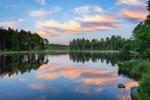 Sunset Reflections at Lawrence Brook, Royalston, MA