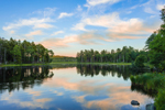Sunset Reflections at Lawrence Brook, Royalston, MA