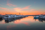 Sunrise at Docks at Montauk Yacht Club Resort and Marina, Montauk, Long Island, East Hampton, NY