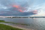 Sunrise over Boats in West Neck Harbor, Shelter Island, NY
