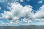 Cumulus Clouds over Little Peconic Bay, South Hampton and Southold, NY
