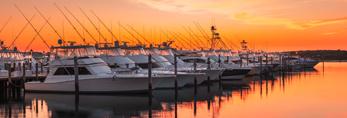 Sunrise at Docks at Montauk Yacht Club Resort and Marina, Montauk, Long Island, East Hampton, NY