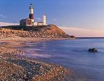 Shoreline and Montauk Point Lighthouse