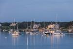 Predawn at Edgartown Harbor and Town, Martha's Vineyard, Edgartown, MA