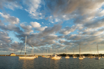 Late Evening Light on Boats in Cuttyhunk Pond, Cuttyhunk Island, Elizabeth Islands, Town of Gosnold, MA