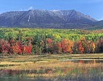 Mt. Katahdin from Abol Stream in Fall