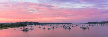 Sunrise over Edgartown Harbor and Town, Martha's Vineyard, Edgartown, MA