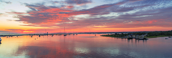 Sunrise at Edgartown Harbor, Martha's Vineyard, Edgartown, MA