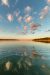 Cloud Reflections at Sunset in Coecles Harbor, Long Island, Shelter Island, NY