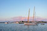 """Schooner """"Magic"""" at Sunrise, Cuttyhunk Pond, Cuttyhunk Island, Elizabeth Islands, Town of Gosnold, MA"""