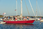 "Rendezvous aboard Sloop ""Artemis"" in Cuttyhunk Pond, Cuttyhunk Island, Elizabeth Islands, Town of  Gosnold, MA"