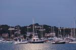 Moonlight Shines on Boats in Cuttyhunk Pond Just Before Dawn, Cuttyhunk Island, Elizabeth Islands, Town of Gosnold, MA