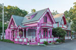 Pink Gingerbread House, Martha's Vineyard Camp Meeting Association, National Register of Historic Places, Martha's Vineyard, Oak Bluffs, MA