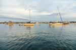 Late Evening Light over Boats in Great Salt Pond, New Shoreham, Block Island, RI
