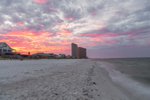 Sunrise over Biltmore Beach on Gulf of Mexico, Gulf Coast, Florida Panhandle, Panama City Beach, FL