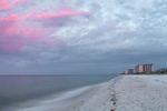 Sunrise over Biltmore Beach on Gulf of Mexico, Gulf Coast, Florida Panhandle, Panama City Beach, FL