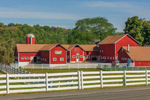 White Fences and Red Barns at Historic Westfall Farm and Winery, Sussex County, Montague, NJ