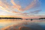 Boats in Lake Tashmoo at Sunset, Martha's Vineyard, Tisbury, MA